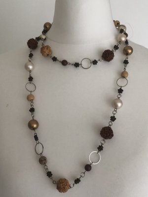Necklace multicolored synthetic material