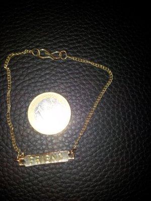 Modeschmuck Armband Friend gold Used-Look NEU