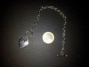 Modeschmuck Armband Herz Steinchen silber