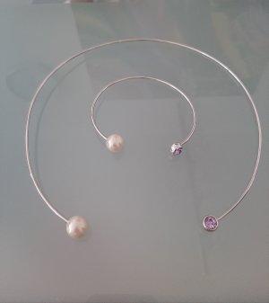Zara Collar estilo collier color plata metal