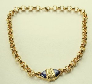 Collier Necklace gold-colored-blue