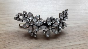 Hair Clip bronze-colored-white metal