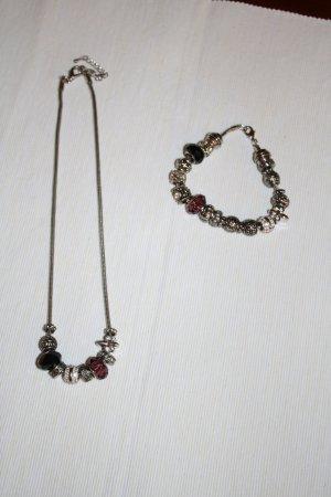 Modeschmuck Halskette und Armband mit Charms von Tchibo