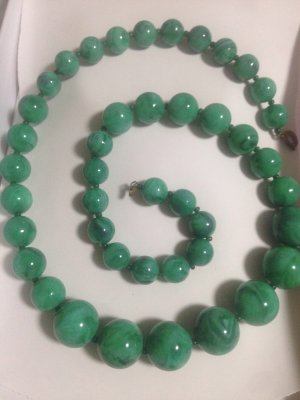 Pearl Necklace mint-dark green
