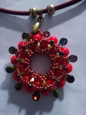 Necklace orange-bright red