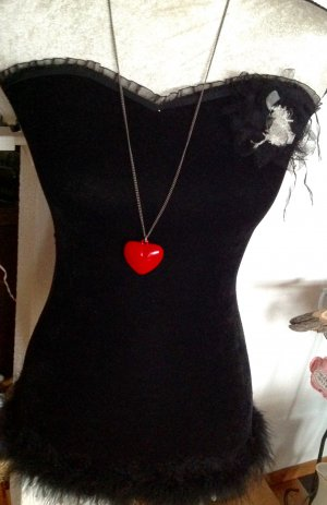 Modeschmuck Kette lang mit Herzanhänger