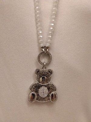 Modeschmuck Kette mit Süßer Bär  Krystalien