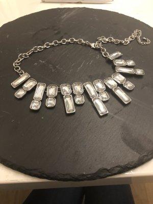 Collier bianco-argento Metallo
