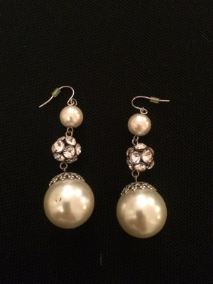 Pearl Earring silver-colored-white