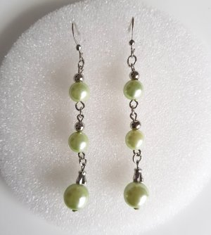 Pearl Earring silver-colored-pale green
