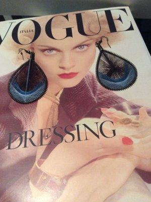 Modeschmuck - Ohrringe in verschiedenen Blautönen