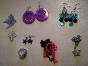 Modeschmuck Ohrringe, Ketten, Ringe