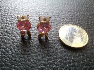Modeschmuck Ohrringe Ohrstecker Eulen gold rosa weiß