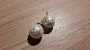 Pearl Earring white-silver-colored synthetic material
