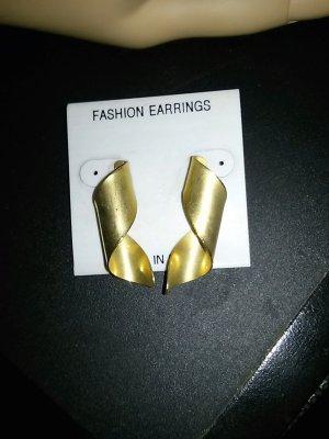 Clou d'oreille doré métal