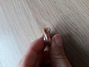 Modeschmuck Ring bicolor silber roségold Gr. 53 (16,8mm)