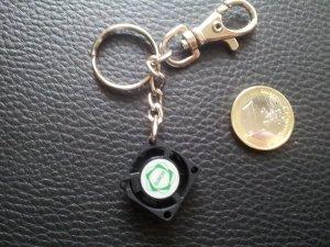 Modeschmuck Schlüsselanhänger PC-Lüfter Kunststoff NEU