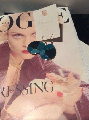 Modeschmuck - ungetragene Ohrringe in verschiedenen Blautönen