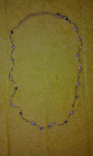Collier wit-zilver