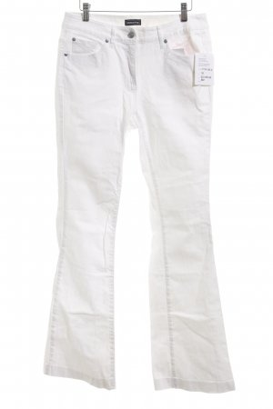 Modeszene Jeans svasati bianco stile casual