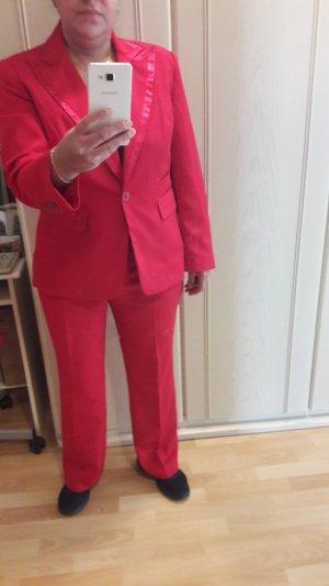 Modeszene Tailleur pantalone rosso-rosso mattone