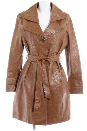 Modeszene Abrigo de cuero coñac look Street-Style