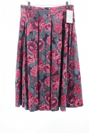 Flared Skirt flower pattern romantic style cotton
