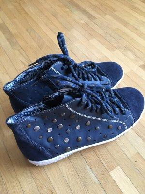 Modische blaue Sneakers von Rieker, Größe 38