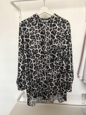 modische Bluse im Leo - Print - BLOGGER - schwarz weiß - Gr XL