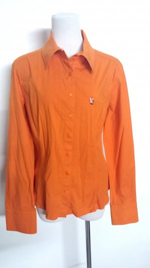 modische - Bluse in orange von Versage - Gr. M