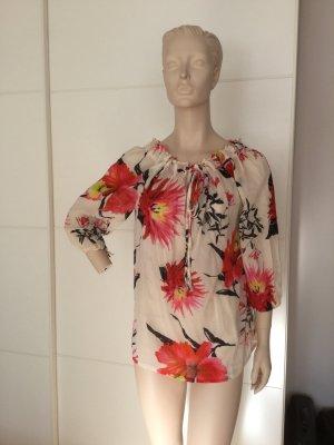 Modische Bluse mit aktuellen Blumendesign