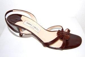 modische Damen - Leder Sandale in braun von Jimmy Choo - Gr. 39