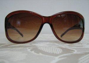 Modische Damen Sonnenbrille Vintage Style Braun Transparent Verlauf UV 400