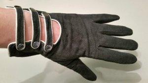 modische Echtleder-Handschuhe, neu, Nachtblau