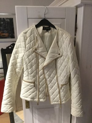 Faux Leather Jacket natural white