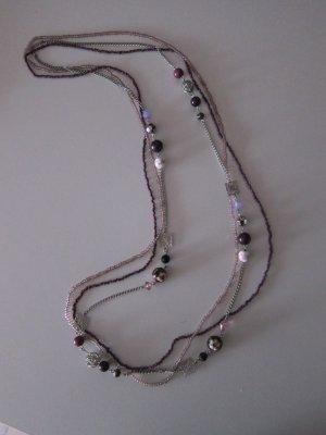 Modische Kette lila und silber