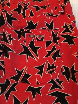 Modische Miu Miu Jeans mit Star-Print