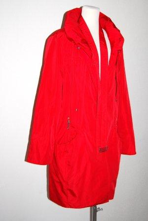 modische Outdoorjacke - Trenchcoat - Kurzmantel in rot von DAMO - Gr. 44