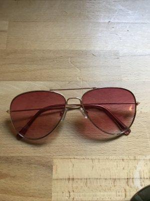 Modische Piloten Sonnenbrille mit pinken Gläsern
