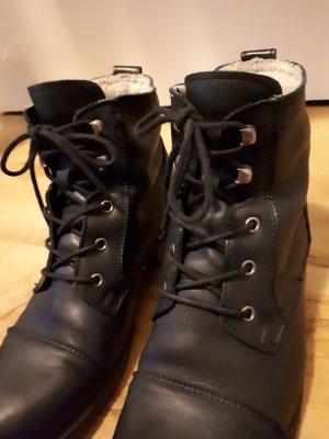 Kiomi Aanrijg laarzen zwart Leer