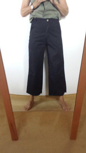 7/8 Length Trousers black cotton