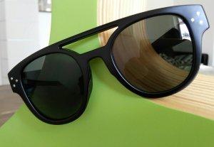 Modische Sonnenbrille Hipster Brille Schwarz