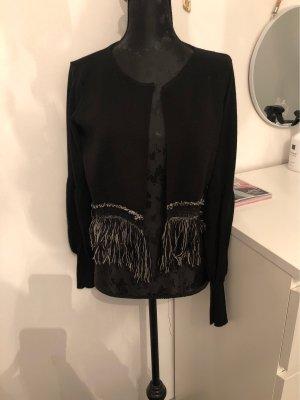 Veste en tricot noir-blanc