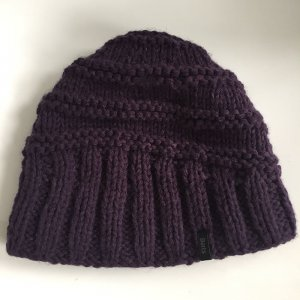 Barts Knitted Hat dark violet polyacrylic