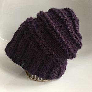 Barts Chapeau en tricot violet foncé acrylique