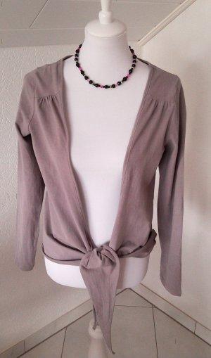 modische Weste,Shirt,zum Knoten,grau,elegant,Gr. S/36/38