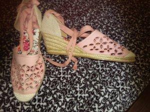 Espadrillas albicocca-rosa antico