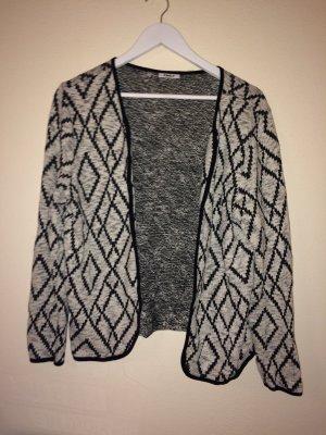 Modischer Cardigan - Black&White - tolles Muster - TOP Zustand -XL