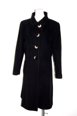 modischer Damen Wollmantel in schwarz von Barbara Lebek - Gr. 40