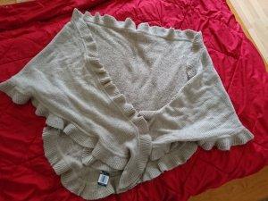 Écharpe en tricot brun sable